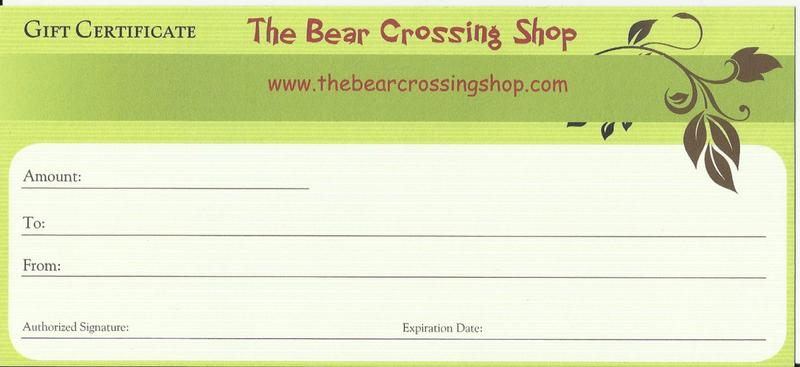 We offer gift certificates for any amount or for a specific item thru our shop..
